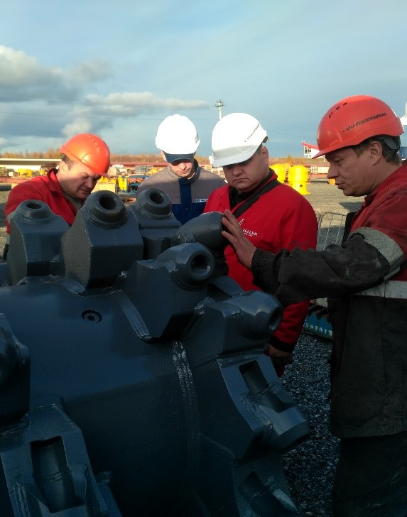 Разработка технологии и подбора ремонтного материала                                                                                                                        на площадке заказчика